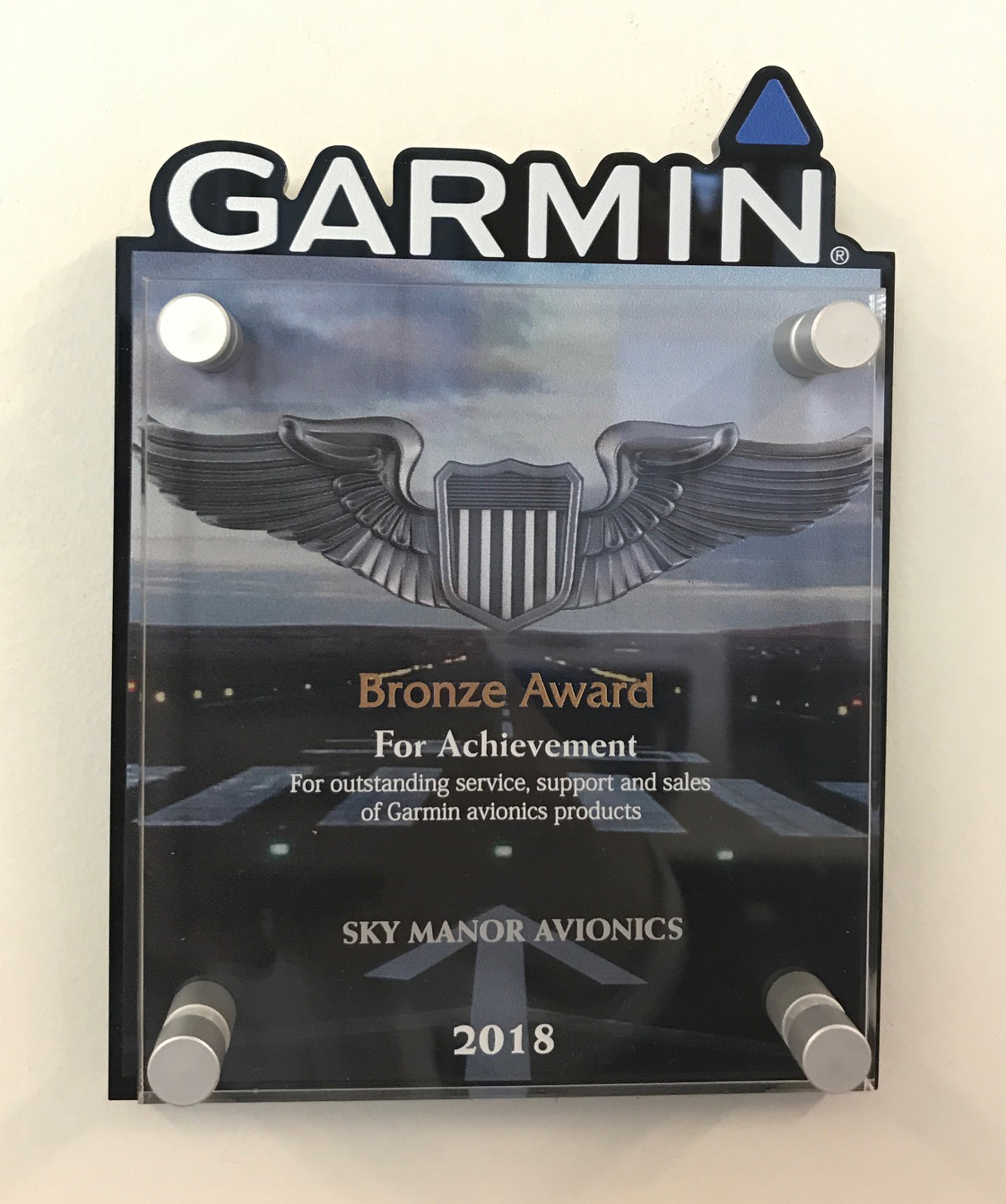 Sky Manor Avionics Garmin Bronze Award